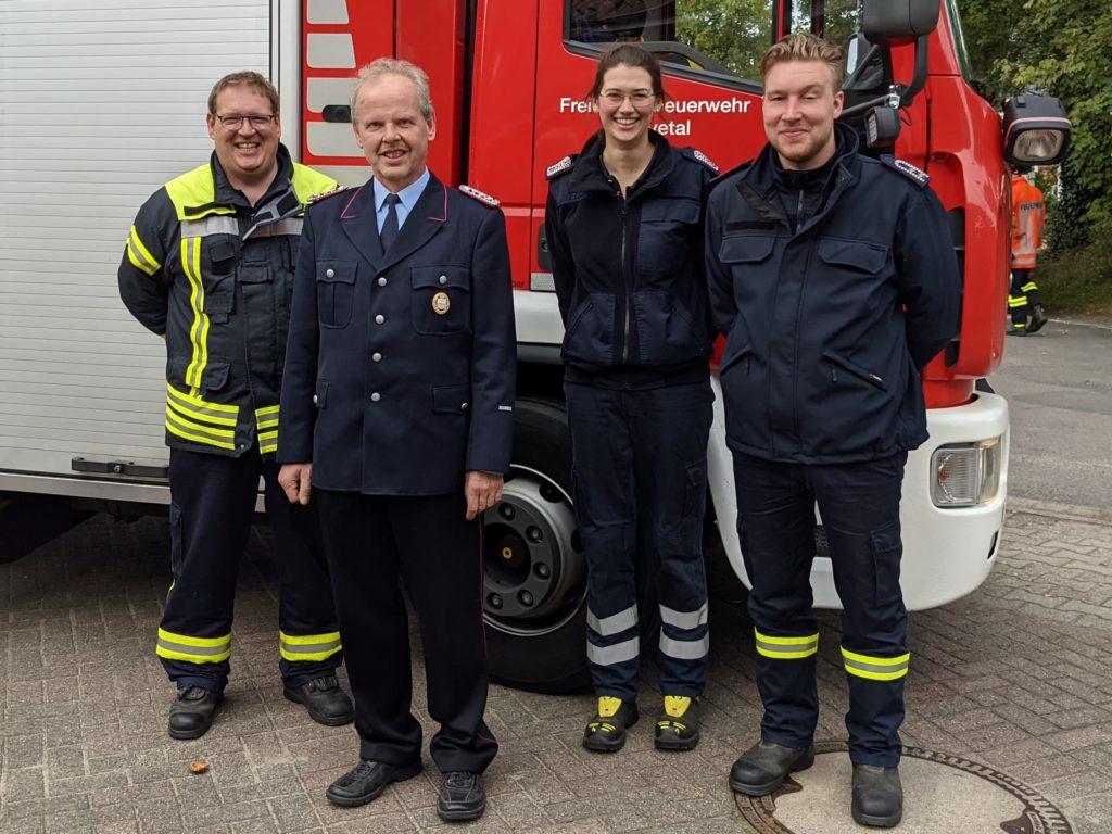 V.l.: Gbm Arne Behrens, Volker Petersen, Gal-v Svenja Reucher, Gal Philip Juraschek